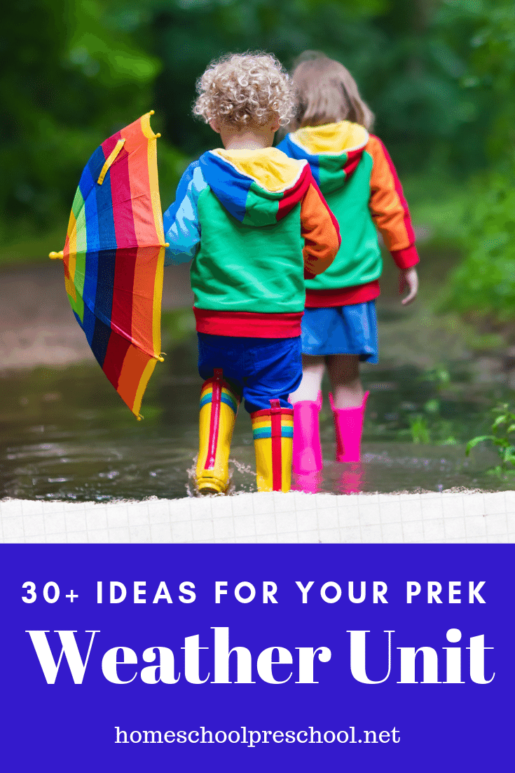 You'll love these ideas for teaching types of weather for kids. From sunshine to storms and everything in between, don't miss these resources.