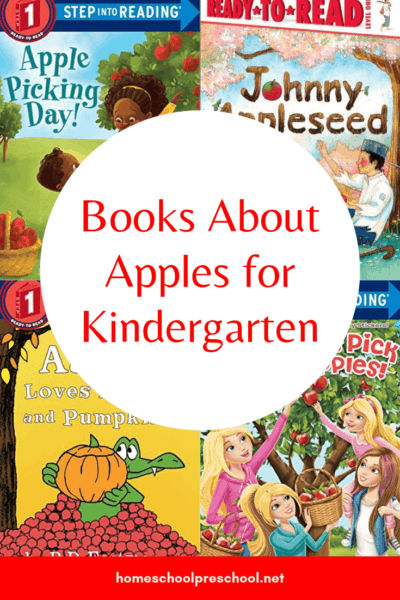 Don't miss this list of easy reader books about apples for kindergarten! Short sentences and large print help kids build reading skills.
