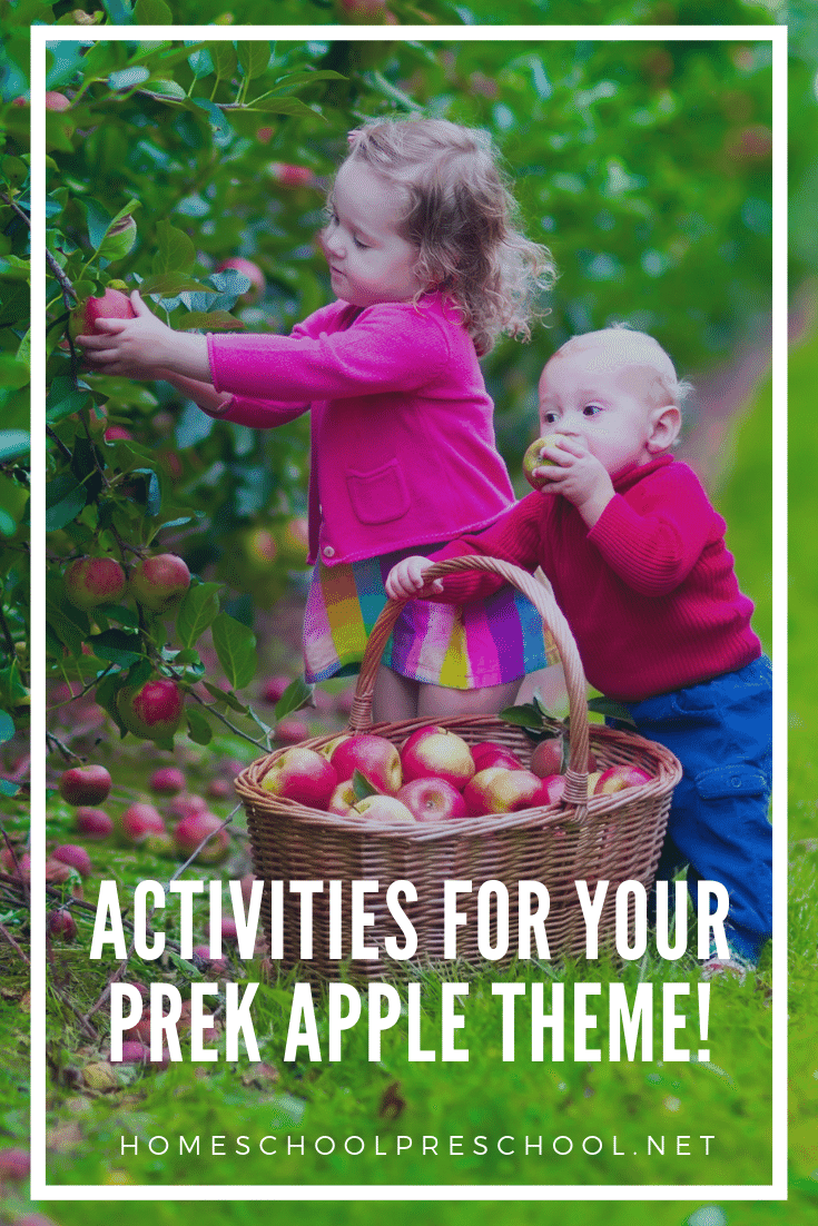 Discover some fabulous resources that will help you plan your apples preschool theme. These activities are geared for kids ages 2-6. Perfect for preschoolers!