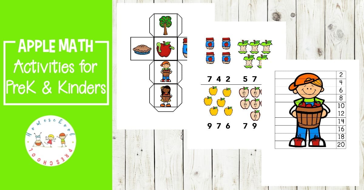 I love this set of FREE apple math worksheets for preschoolers! Number practice, counting, skip counting, and more.