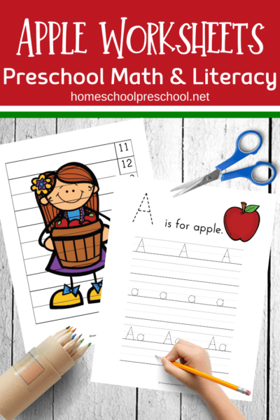 free printable apple worksheets for