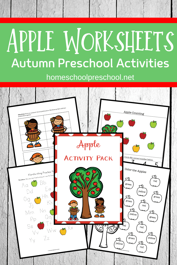 Download this free apple worksheet to use with your younger students in preschool and kindergarten. They'll love working through them this fall!