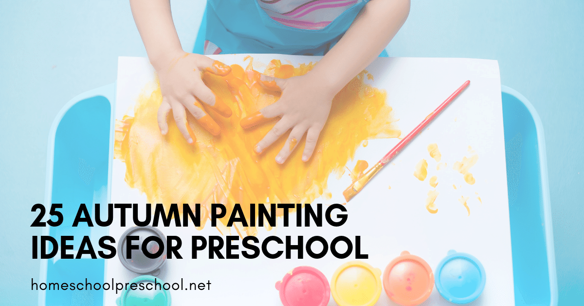 If you can handle a little mess with your kids, you don't want to miss these autumn painting activities! They're perfect for preschoolers.
