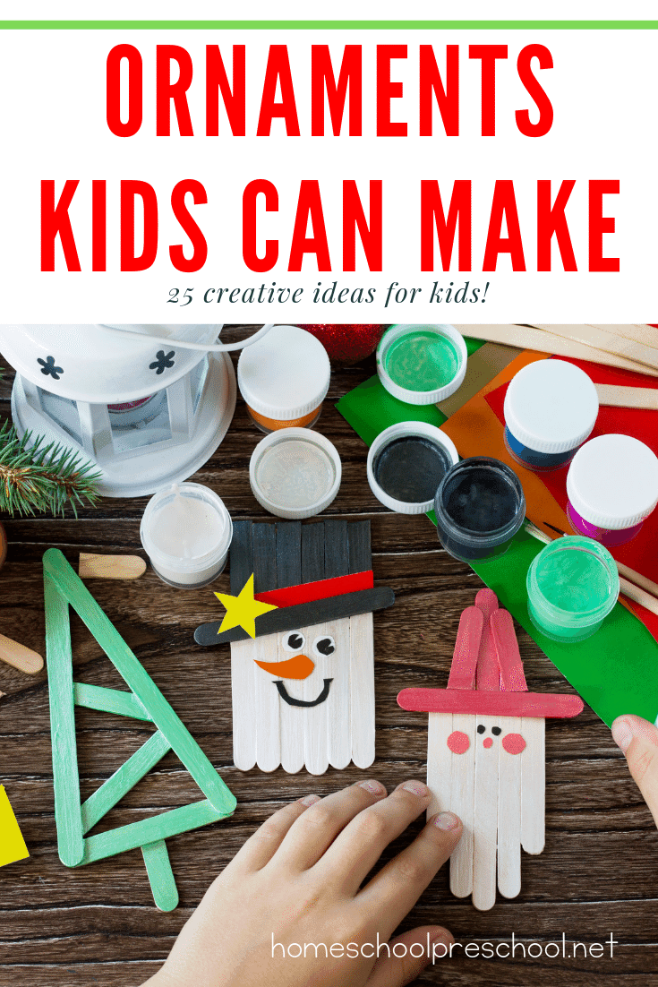 Kids love making ornaments to give to loved ones and to hang on the Christmas tree. These Christmas ornament crafts for kids are a great place to start!