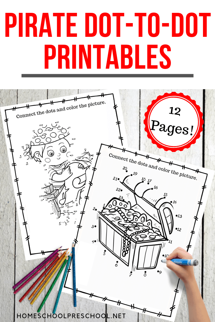 photo regarding Pirates Printable Schedule known as Free of charge Pirate Dot towards Dot Printable Pack for Children