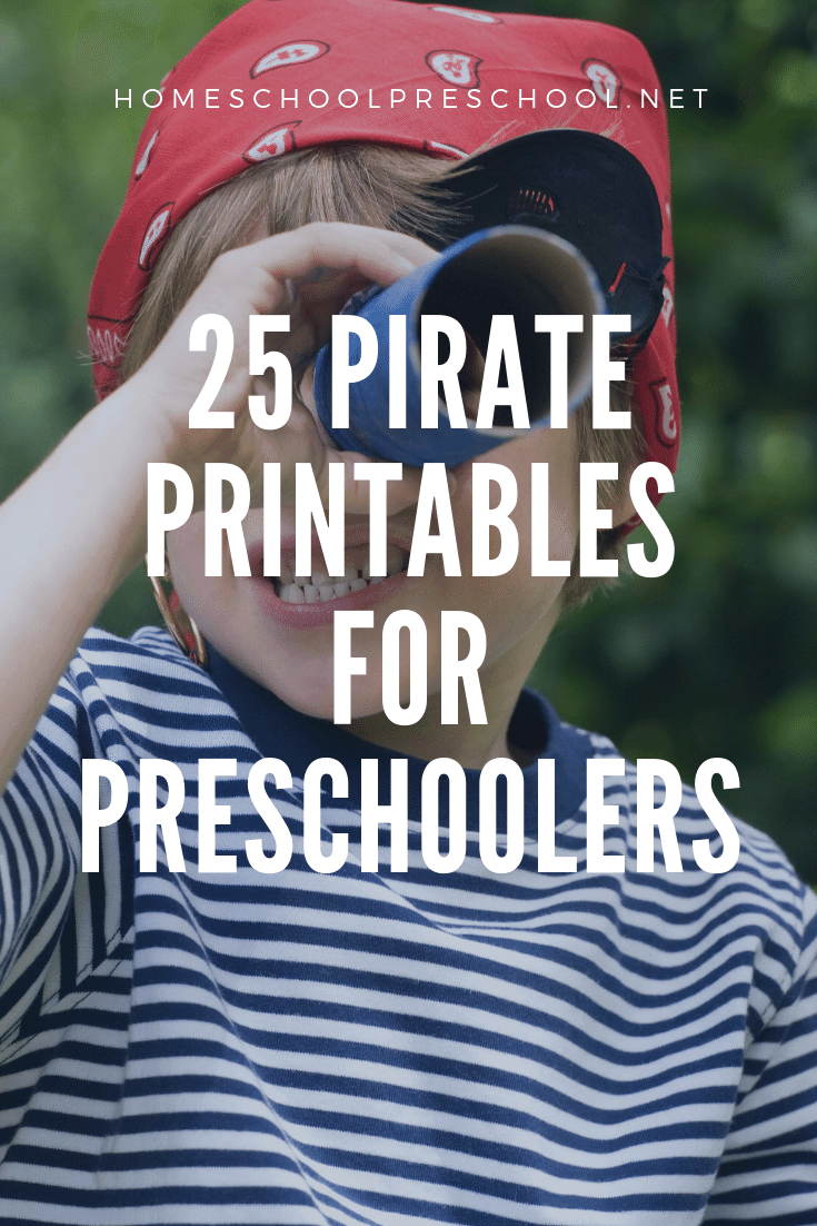 You don't want to miss these preschool pirate theme printables! They're perfect for your Letter P or pirate themed preschool activities.