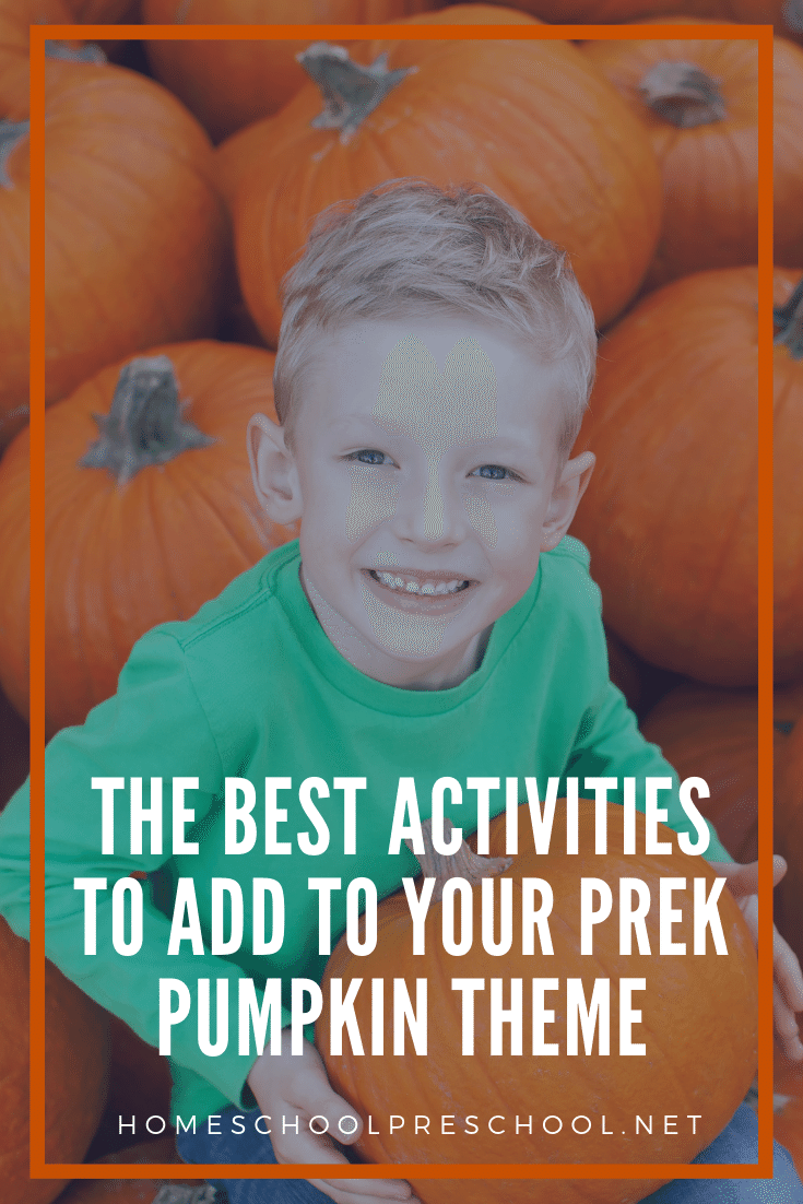 What an amazing collection of activities to add to your preschool pumpkin theme! Below, you'll find crafts, printables, books, and more!