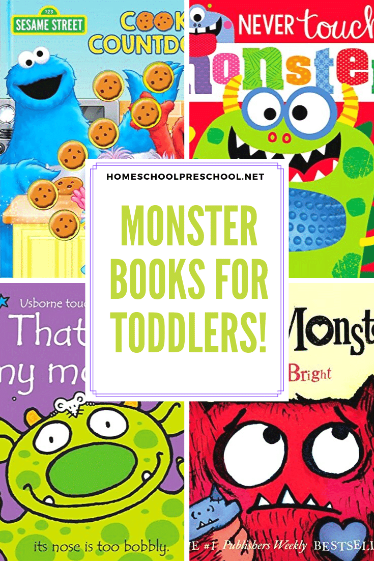 This October, as we head into the Halloween season, fill your book basket with monster books for toddlers. These board books are perfect for little hands.