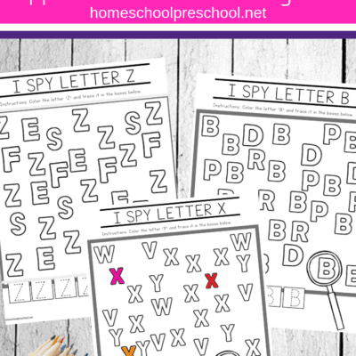 Uppercase I Spy Letters Printable