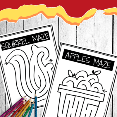 Autumn Maze Printable