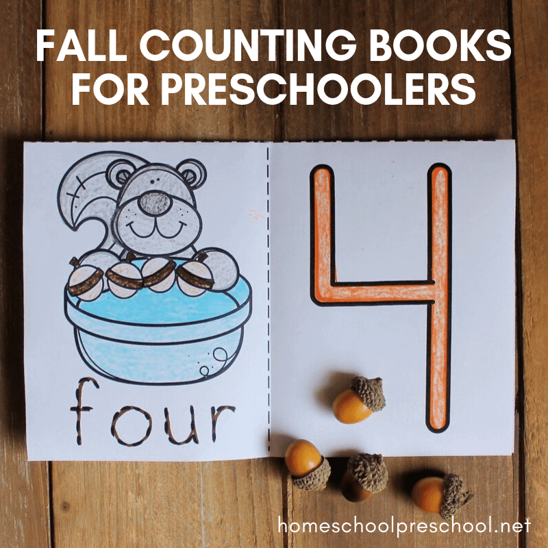 Practice Counting To Ten With Printable Fall Counting Books