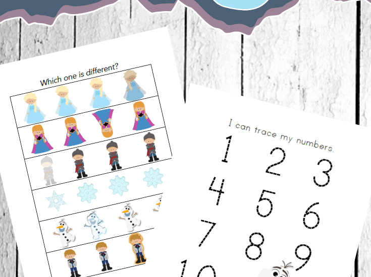 Fans of Ana and Elsa are sure to love these free Frozen worksheets for preschoolers. They're packed with lots of math and literacy fun for winter!