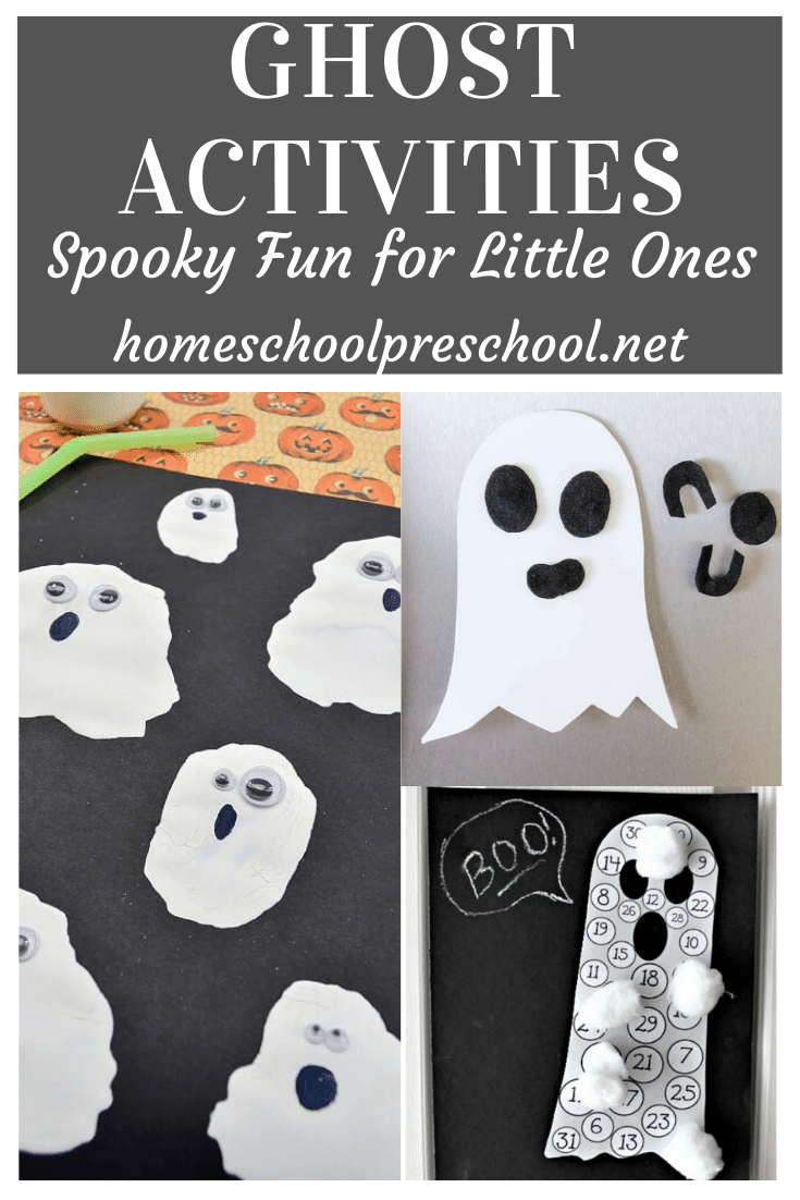 Don't miss these ghost activities for preschoolers! They're perfect for your preschool Halloween activities. Find art, printables, songs and more.