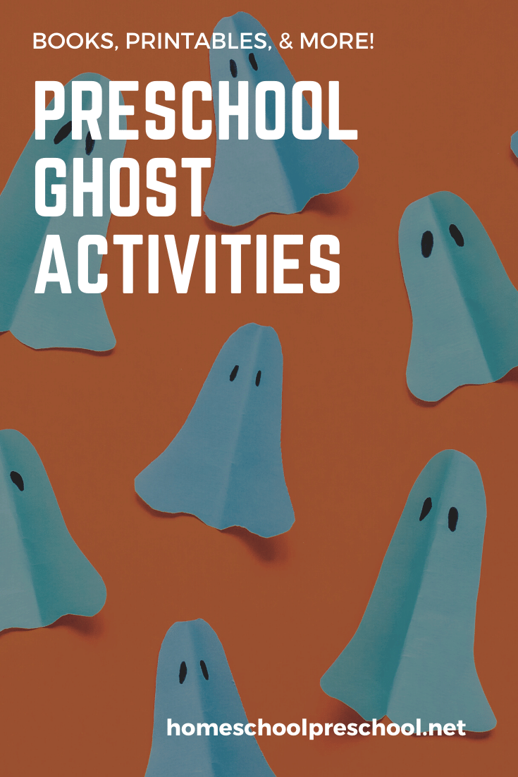 Great ghost activities for preschoolers! Find crafts, printables, book lists, and more. Float on over to discover them all!