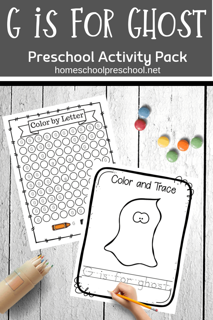 When you download this ghost preschool theme printable, your preschoolers will learn and grow while celebrating Halloween.