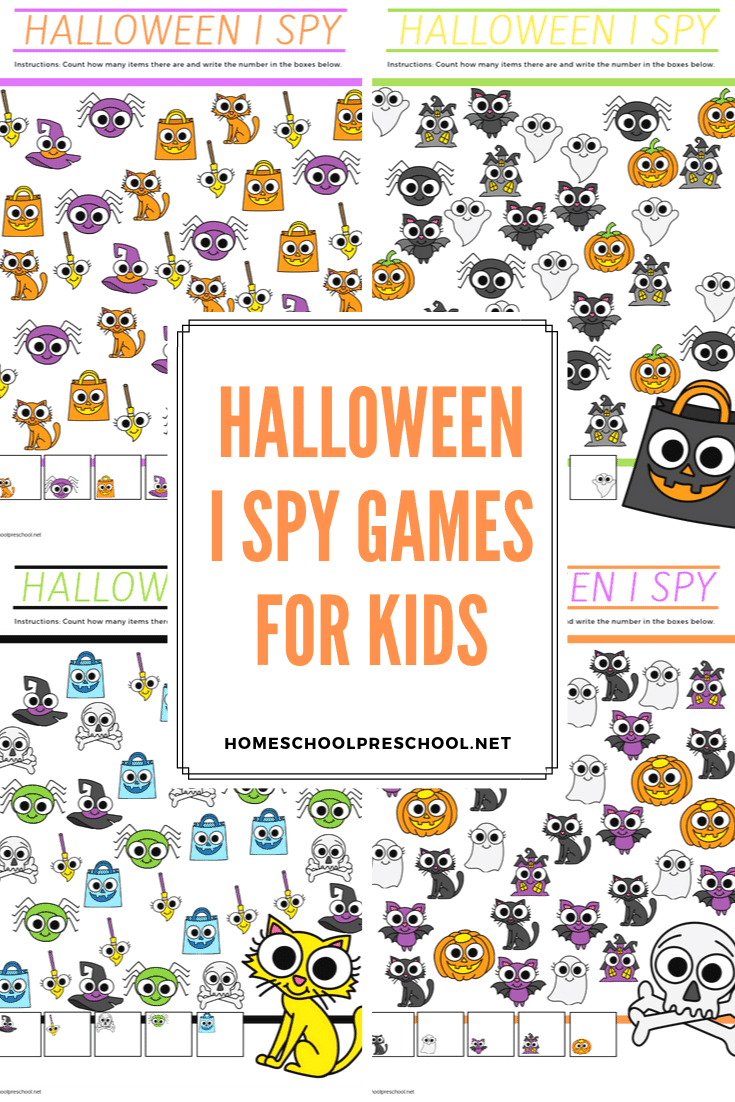 These Halloween I Spy Games are perfect for the month of October. Kids will build visual discrimination skills as they hunt for Halloween objects.