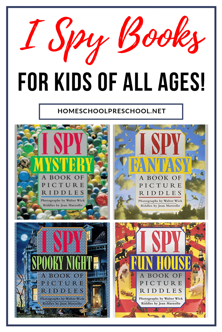 Grab one or more of these I Spy preschool books for a fun quiet time activity! Also good for travel activities or entertaining kids during a long wait.