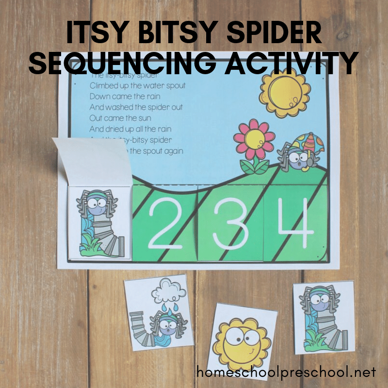 Your preschoolers will love this Itsy Bitsy Spider sequencing activity! It's so colorful, and it's the perfect sequencing activity for your spider theme!