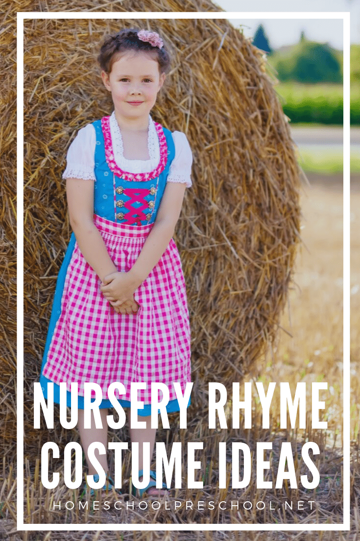 Check out these Nursery Rhyme costumes! They're perfect for Halloween and Nursery Rhymes Day. But, they're great for dress up any day!