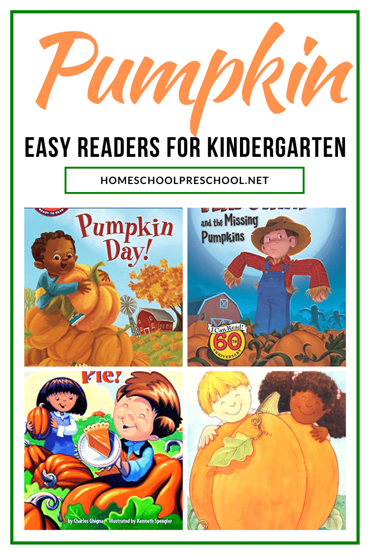 Don't miss the perfect collection of pumpkin books for kindergarten! These easy readers are sure to engage and excited your young readers this fall.