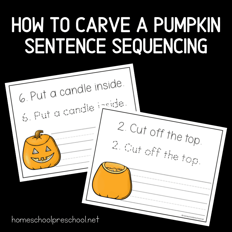 Download and print these pumpkin sentence sequencing worksheets this fall. Kindergarteners can practice handwriting and sequencing together.