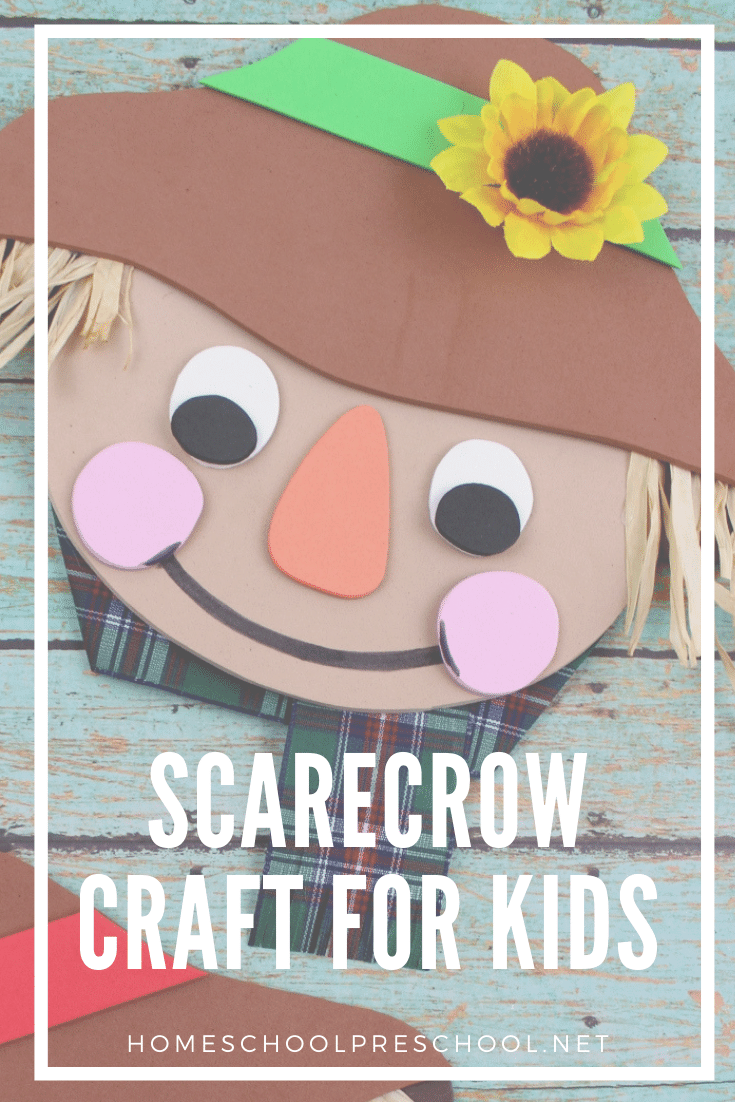 Autumn means scarecrows and sunflowers and great autumn read-alouds. Combine all of those things with this simple scarecrow craft and book list for kids.