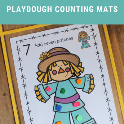 Scarecrow Playdough Mats