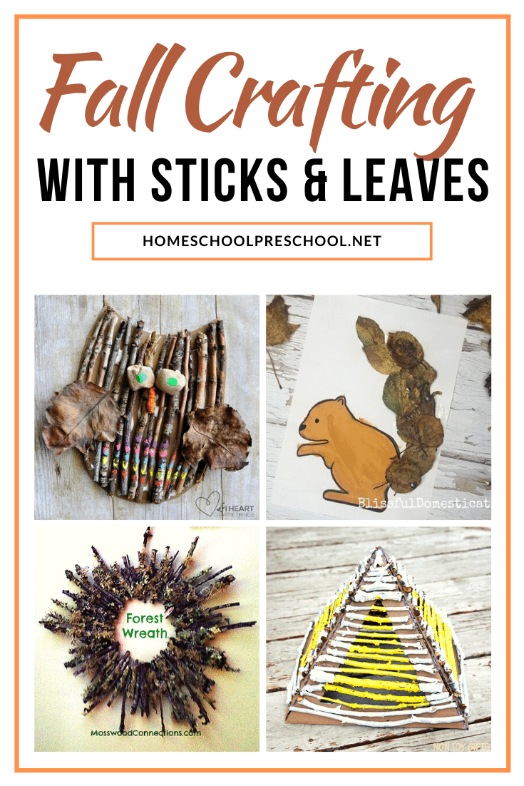 As you head out on your fall nature walk, gather some supplies to make a few of these crafts with leaves and sticks. Crafting with nature is so much fun!