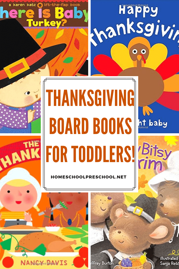 Snuggle up with your little turkey, and share some of these Thanksgiving board books with them. They're perfect for toddlers and preschoolers!