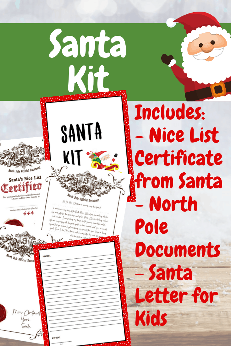 Prepare for Santa's visit! Just print out this Santa Kit for a letter to Santa, letter from Santa, and a North Pole message!