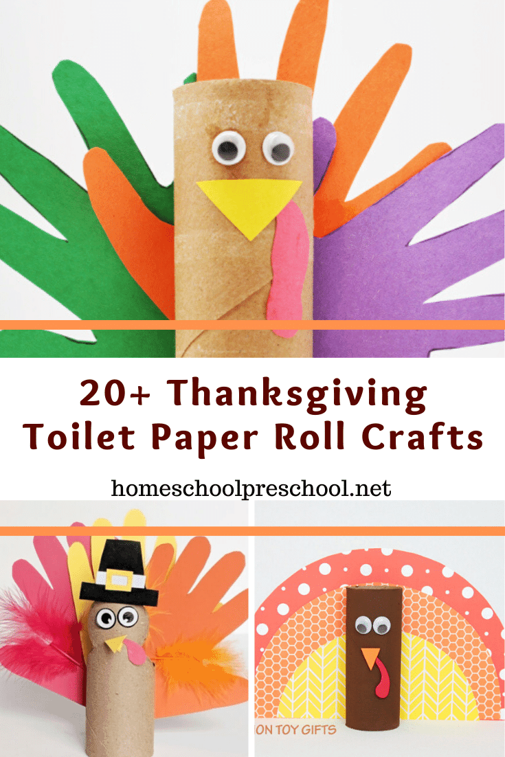 These Thanksgiving toilet paper roll crafts are perfect for young crafters. Preschool and kindergarten kiddos will enjoy making them for the holidays.