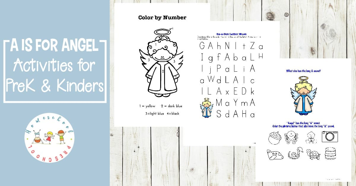 Focus on the Long A sound this holiday season with some fun A is for Angel printables for preschool and kindergarten learners!