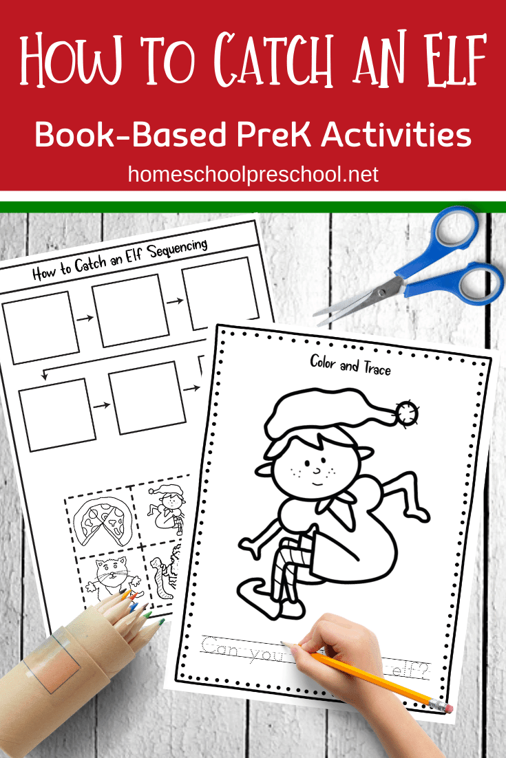 Add these How to Catch an Elf book activities to your preschool reading and literacy centers this holiday season! Kids will love them!