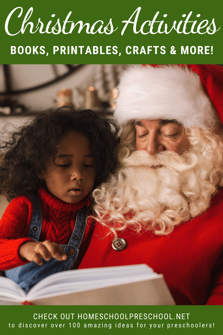 These Christmas activities for preschoolers will inspire and entertain your little ones all season long. Crafts and hands-on activities galore!