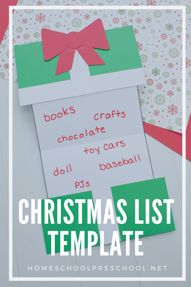 Your kids will love making this foldable Christmas present craft! They can use this Christmas list template to tell Santa exactly what they want this year.