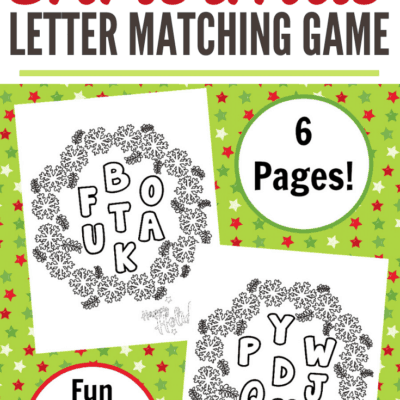 Letter Matching Christmas Alphabet Game