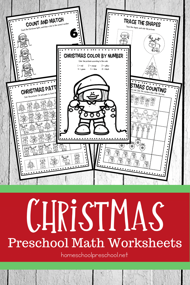 These Christmas math worksheets are the perfect addition to your holiday math centers. Preschoolers will practice number recognition, counting, and more!