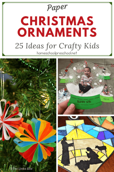 Don't miss this amazing collection of paper Christmas ornaments for kids. They'll look amazing hanging on your Christmas tree this year (and years to come).