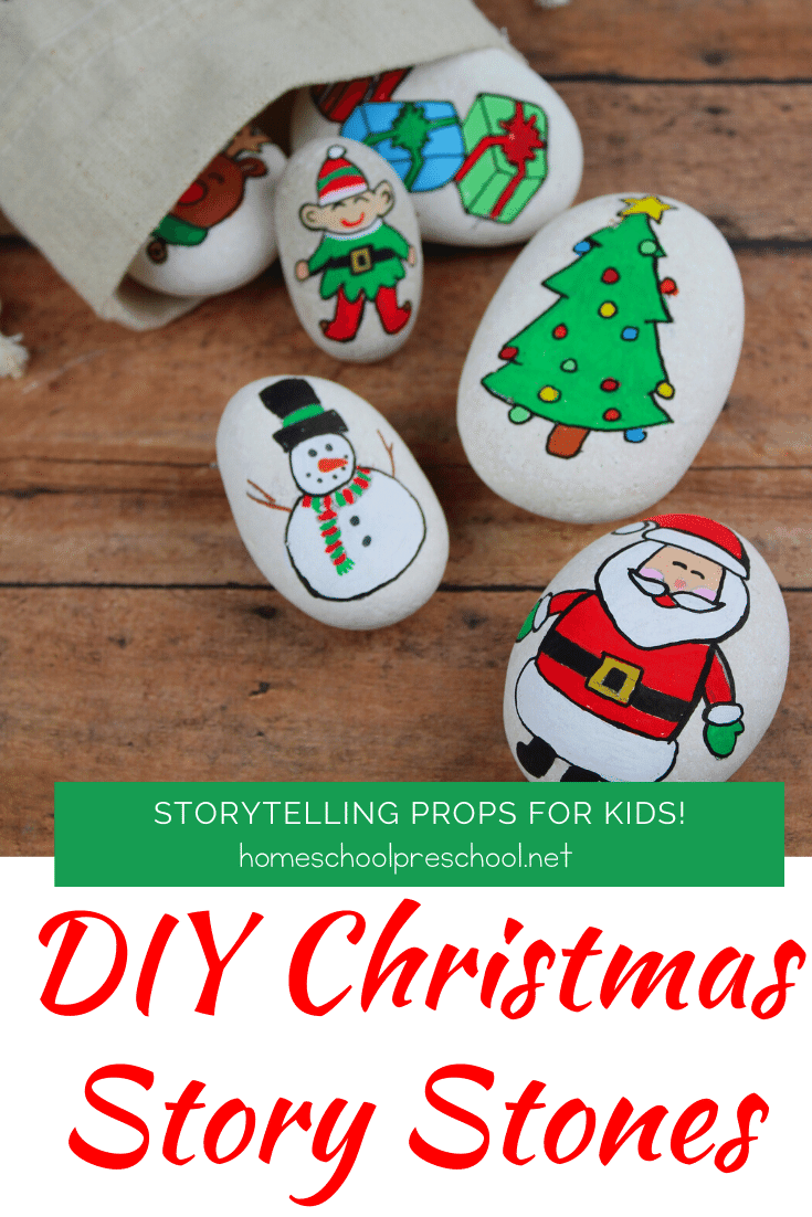 These DIY Christmas Story Stones are easy to make and a fabulous resources to have on hand when story telling with young kids.