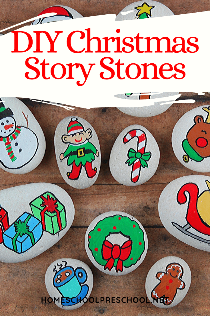 These DIYChristmas Story Stones are easy to make and a fabulous resources to have on hand when story telling withyoung kids.