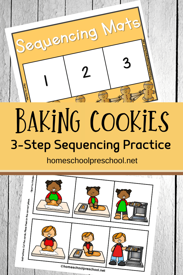 This Christmas, preschoolers can practice sequencing with this 3-step gingerbread sequencing mat. Available in both color and line art.