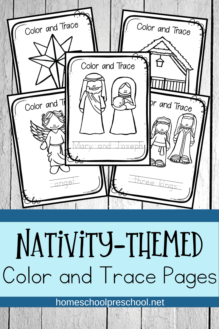 Free Printable Nativity Coloring Pages For Preschoolers