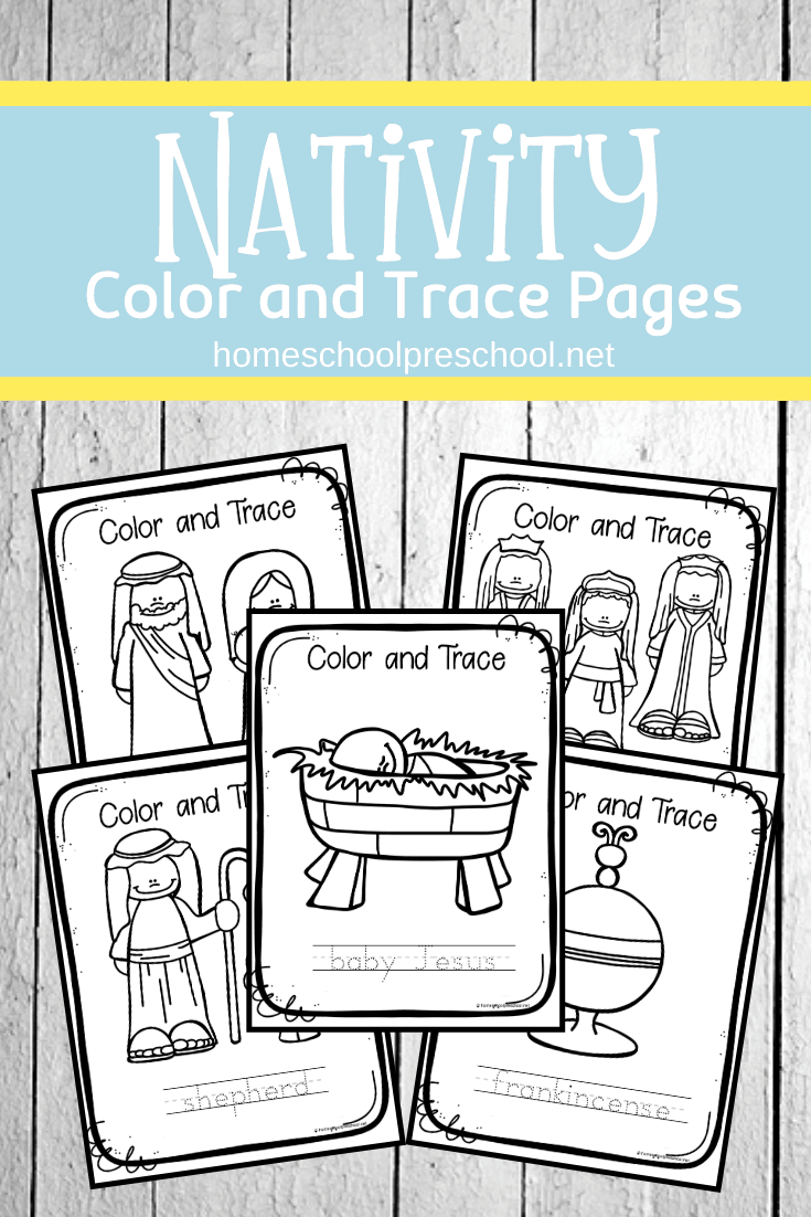 These nativity coloring pages will keep your preschoolers entertained this holiday season. These no-prep activities are perfect for busy preschool moms and teachers.