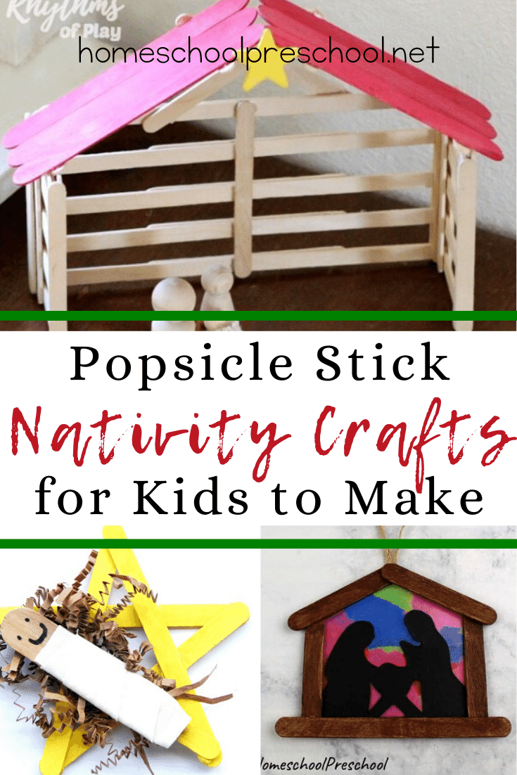 Kids can make these popsicle stick nativity crafts and hang them on the Christmas tree for a meaningful reminder of the reason for the season.