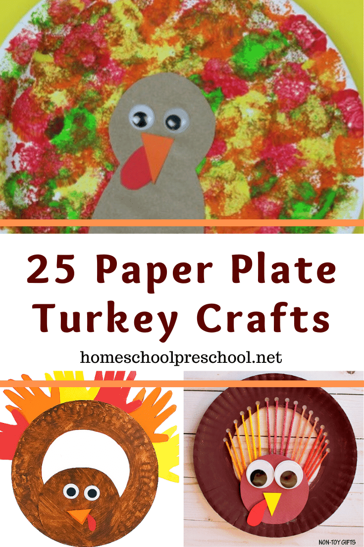 This Thanksgiving, make one of these turkey paper plate crafts for preschoolers. They'll look great decorating your learning space throughout the holidays!