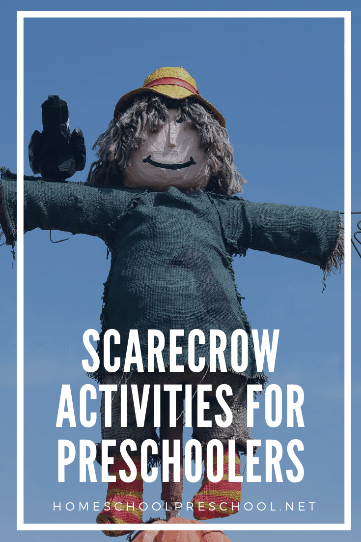 Spectacular scarecrow activities for preschoolers! Find crafts, printables, book lists, and more. Come on over to discover them all!