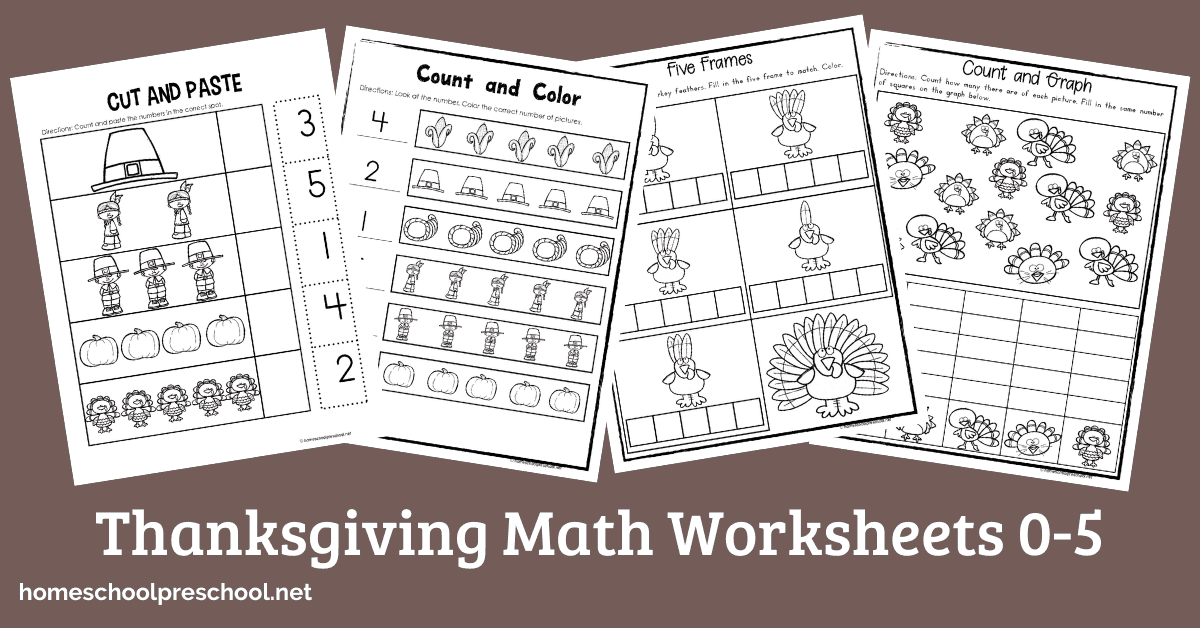 Printable Thanksgiving Math Worksheets For Preschoolers