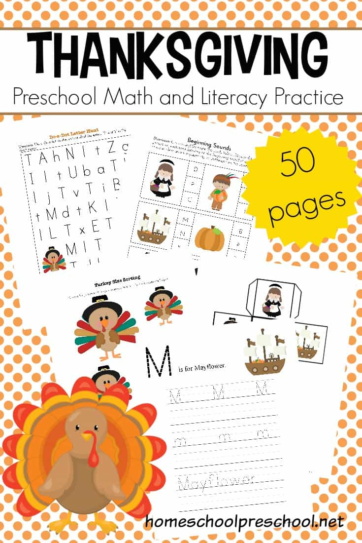 Free Thanksgiving worksheets! Keep kids occupied this holiday season with this pack of educational activities that you can print from home!