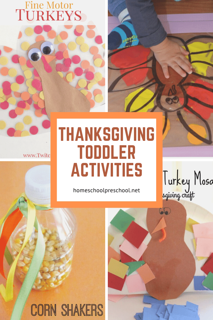 Keep your little ones entertained this month with one or more of these Thanksgiving toddler activities. Build fine motor skills, make crafts, and more.