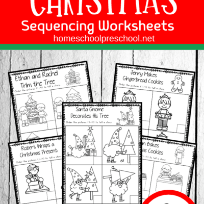 Christmas Sequence Worksheet Pack